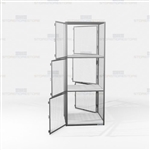 Wire Mesh Gear Storage Lockers Vented Compartments Cubby Cabinet Locking Storage