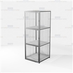 Ventilated Wire Storage Lockers Gear Cabinet Cubby Compartments Locking Storage
