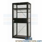 Military TA-50 Gear Locker Equipment Storage Wire Mesh Ventilated Cabinet Secure