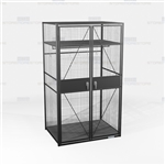 Military Storage Cabinet TA50 Gear Locker Uniforms Equipment Wire Mesh See-Thru