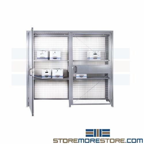 Locking Wire Storage Cage Condo Garage Locker Resident Parking Cabinet Shelves