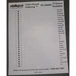 "Oblique White Index Labels 6"" Indexing Labels (8 Double sided sheets), #SMS-42-LS6"