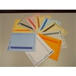"Oblique Color Coded Index Labels 6"" Indexing Labels (8 Double sided sheets), #SMS-42-LS6-color"