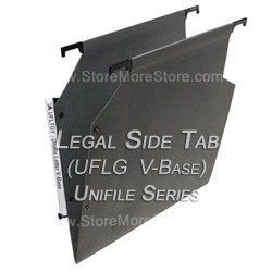 Oblique UFLG V-Base Unifile Legal Size Hanging File Folder Compartments,