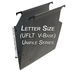 Oblique UFLT V-Base Unifile Letter Size Hanging File Folder Compartments,