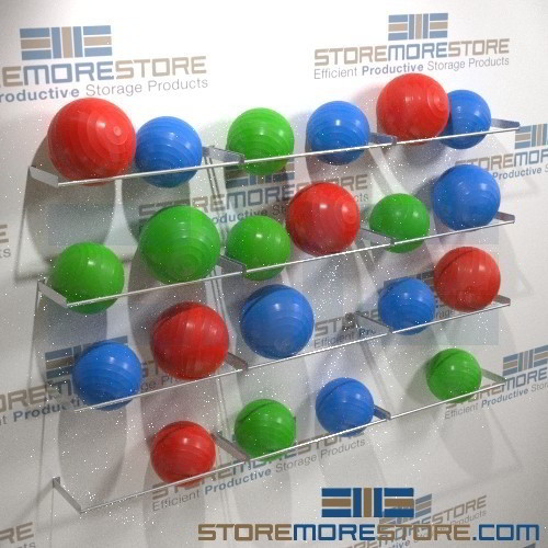 Wall Shelves For Large Physio-Balls & Wall Shelves Large Physio-Balls | Physical Therapy Ball Storage ...