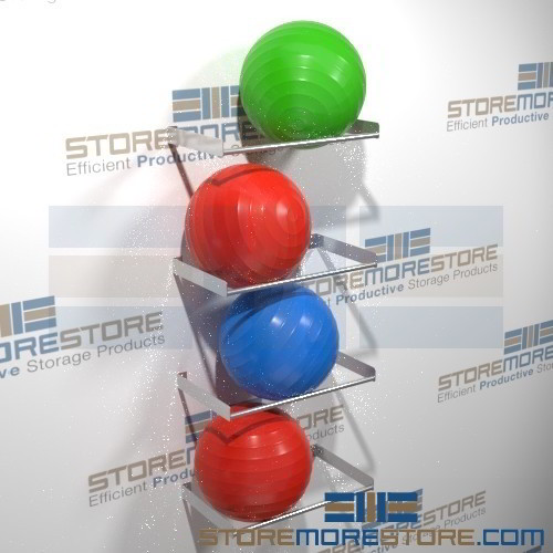 Alternative Views & Exercise Ball Rack Storing Large Stability Physio-Balls Wall ...