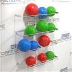Yoga ball storage racks for rehab centers, hospitals, clinics where physical therapist use balls for exercises