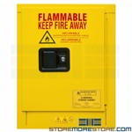 yellow safety cabinet, flammable liquid storage, chemical cabinet, durham, 1004m-50