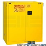 hazardous materials storage cabinet, cabinet with self closing doors, paint durham, 1030SL-50