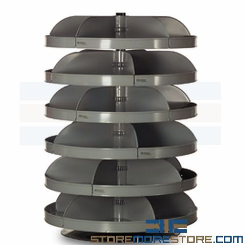Nail Bins Rotating Carousel Storage Shelves Nuts Bolts