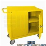 spill response cart, rolling emergency safety storage cabinet, durham, 2210-50