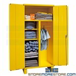 spill control storage cabinet, wardrobe broom safety supplies, durham, 3501-hdl-50