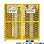 18 cylinder storage cabinet, gas propane tanks ventilated lock durham, egcvvc18-50