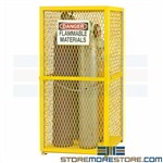 ventilated gas cylinder cabinet, stores 9 tanks vertical durham, egcvvc9-50