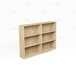 Wall Bookcases Laminate Row 6 Ft Adjustable Shelves Book Storage Shelving Units