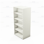 "Laminate Library Shelving Units Storage Rack Books Cases 72"" High 24"" Deep"