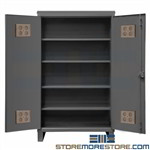 Heavy-Duty Outdoor Storage Cabinet Weatherproof Steel Durham HDCO244878-4S95