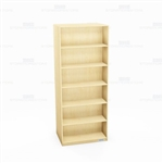 "Double-Sided Bookcases 36x24x84 Melamine Bookshelf 84"" Freestanding Book Racks"