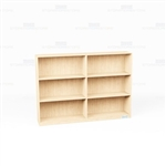 Wood Bookcases On Wheels Row 6'