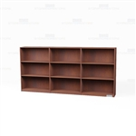 Wood Bookcases On Wheels Row 9'
