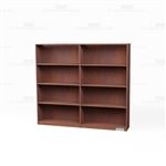 Freestanding Wood Bookshelves Row 6'