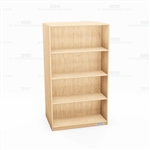 "Oak Bookshelves Wood Bookcases Library Storage Double-Sided 24"" Deep 60"" High"