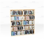 Veneer Bookshelf Wall Shelving Row 6'