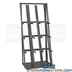 Vertical Pipe Lumber Storage Rack PVC Wood Trim Barstock Durham VBR-8436-95