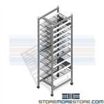 Surgical Instrument Storage Racks SPD Shelving Wire CSSD OR Sterile Core Trays