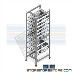Surgical Instrument Storage Racks Spd Shelving Wire Cssd