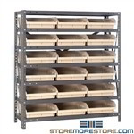 Waist-High Parts Bin Shelving Storage Rack Steel 36wx12dx39h Quantum 1239-109