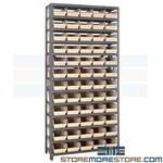 Steel Shelving Pick Bins V-Lock Hanging Small Parts Storage Quantum 1275-102