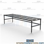 "Dunnage Rack Wet Dry Goods Storage Stand Restaurants 14"" High Quantum 186014DE"