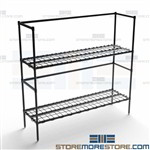 Dunnage Beverage Platform Two Shelf Storage Stand Adjustable Quantum 186054DE