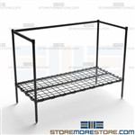 Double Shelf Dunnage Rack Storing 5 Gallon Plastic Bottles NSF Quantum 244834DE