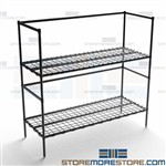 5 Gallon Container Storage Racks Two Shelves Wire Rack NSF Quantum 246054DE