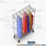 Mobile Backboard Stretcher Racks EMS Spineboard Storage Portable EMS481886