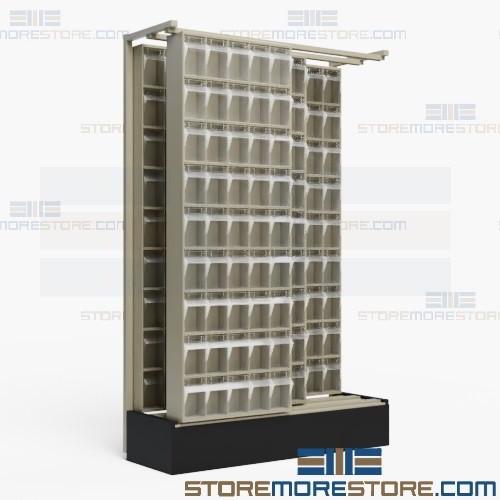Sliding Gondola Storage Bins Hardware Storage Organizers