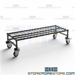 Rolling Dunnage Platforms Mobile Storage Stand Easy Cleaning Quantum M18486DE