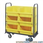 Cart Large Storage Bins Rolling Big Storage Hopper Tubs Quantum MTT-1842-543