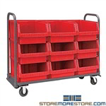 Rolling Storage Bins Large Parts Picking Tubs Mobile Cart Quantum MTT-1860-543