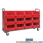 Large Bin Cart Parts Picking Wheels Rolling Storage Bins Quantum MTT-1878-543