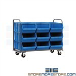 Rolling Bin Cart Huge Parts Picking Storage Bin Hoppers Quantum MTT-3060-743