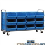 Large Mobile Storage Bins Parts Containers Transport Cart Quantum MTT-3078-743