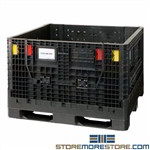 Collapsible Stacking Bulk Storage Containers Plastic Pallets Quantum QBB-4845-34
