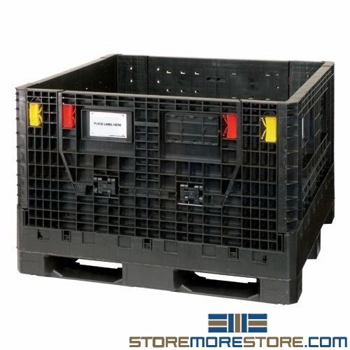 Collapsible Stacking Bulk Storage Containers Plastic Pallets Quantum