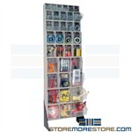 Clear Bin Storage Rack Tall Shelving Small Parts Cabinet Tip Out Quantum QFS170-36