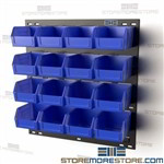 Louvered Wall Panels with Bins Hanging Storage Shelves Picking Rack Quantum