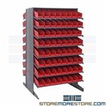 Parts Picking Shelving Slanted Plastic Bins Steel Sloped Rack Quantum QPRD-103